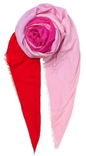 Becksöndergaard Schal Pixi für Damen - Farbverlauf Rosa Rot - Super Weich aus Viskose Seide 180x130 cm - 1907761033-690