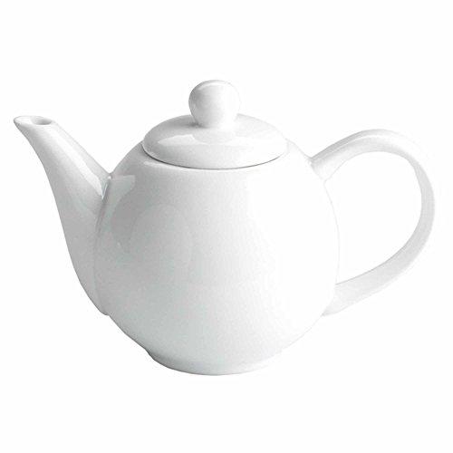Moonlight Keramik Teekanne weiß 368,5/370ml–kleine Porzellan Teekanne