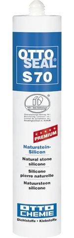 OttoSeal S70, dass Premium-Naturstein-Silicon, 310ml Farbe: C197 EDELSTAHL