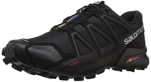 Salomon Herren Trail Running Schuhe, SPEEDCROSS 4, Farbe: schwarz (Black/Black/Black Metallic) Größe: EU 46