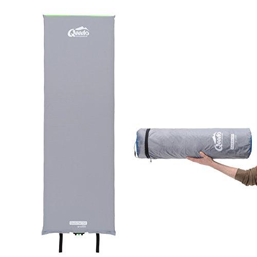 Qeedo Quick Pad 750 XL Isomatte selbstaufblasend 202 x 66 cm (vers. Stärken) selbstaufblasbare Isomatte inkl. Tornado-Ventil (schneller), Easy-Roller (einfaches & kompakt) und robuster Packtasche