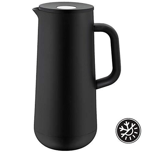 WMF Isolierkanne Thermoskanne Impulse, 1,0 l, für Kaffee oder Tee Druckverschluss hält Getränke 24h kalt und warm, schwarz