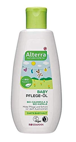 Baby Pflege-Öl - Mit Bio-Calendula & Bio-Kamille - Milde Pflege und Schutz vor dem Austrocknen - 200 ml