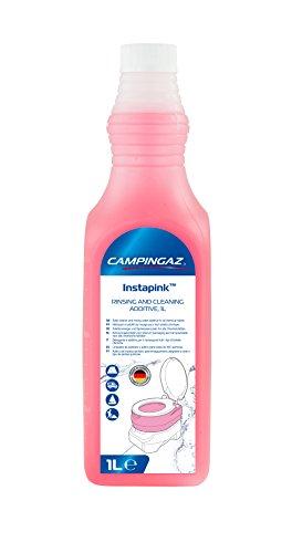 Campingaz Instapink 1 Liter Sanitärflüssigkeit, Reiniger für Campingtoilette, Toilettenzusatz Wohnmobil, Spülwasserzusatz für Frischwassertank der Chemietoilette