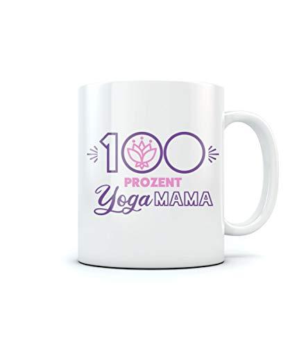 100 Prozent Yoga Mama - Geschenke Tasse für Mütter Kaffeetasse Tee Tasse Becher 11 Oz. Weiß