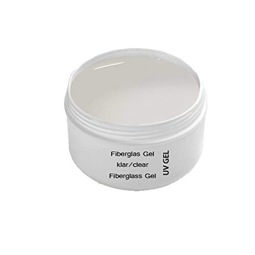 UV Fiberglas Gel Klar 30 ml Premium Line – Finishgel Aufbaugel Haftgel – Shine Top Coat – Transparent - 1-Phasengel