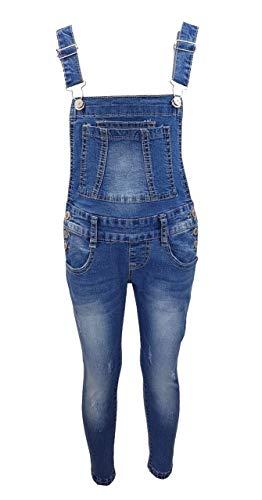 Girls Fashion Tolle Jeans Latzhose für Mädchen, Gr. 128/134, M3121.10