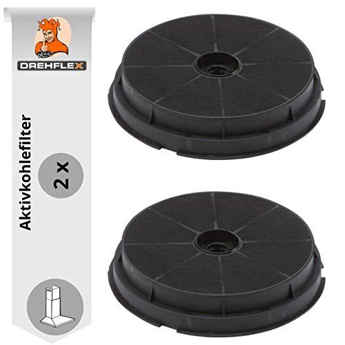 DREHFLEX - AK16-2 - 2 Stück Aktivkohlefilter Kohlefilter Carbonfilter Dunstabzugshaube 190mm - passend für Refsta Hauben - passend für Kohlefilter K25