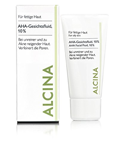 Alcina - AHA-Fluid 10% für fettige bis Mischhaut AHA-Fluid 10% - für fettige bis Mischhaut - 50 ml