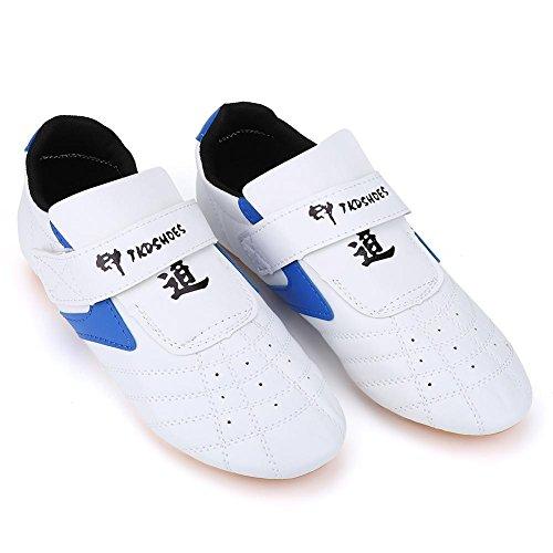 VGEBY leicht, Kampfsport Taekwondo, Schuhe, Unisex, für Erwachsene Kinder Sneaker Für Taekwondo, Boxen, Karate, Kung Fu, TAICHI, weiß, 37