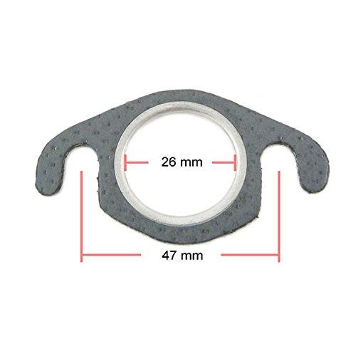 Auspuffdichtung Auspuff Krümmer Dichtung 26mm (48 mm Stehbolzenabstand) für 50ccm 2 Takt Motoroller