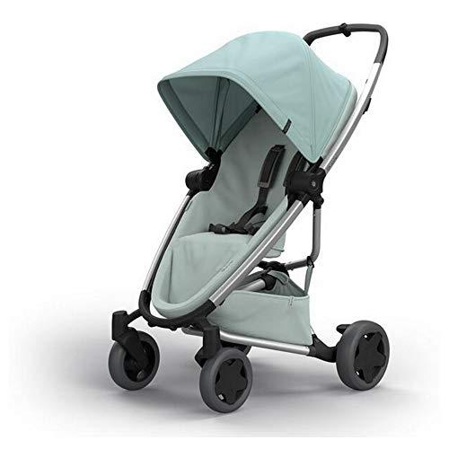 Quinny Zapp Flex Plus Buggy, stylischer Kinderwagen mit viel Komfort und Flexibilität, leicht und extrem kompakt zusammenfaltbar, nutzbar ab der Geburt (z.B. mit Lux Babywanne), frost on grey