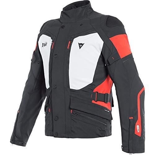 Dainese Motorradjacke mit Protektoren Motorrad Jacke Carve Master 2 D-Air GTX Textiljacke schwarz/rot/grau 50, Herren, Tourer, Ganzjährig