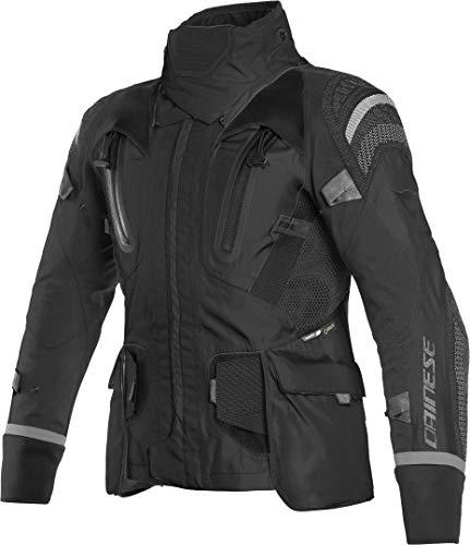 Dainese Motorradjacke mit Protektoren Motorrad Jacke Antartica GTX Textiljacke schwarz/grau 62, Herren, Tourer, Ganzjährig