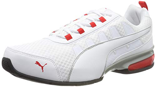 PUMA Unisex-Erwachsene Leader Vt Mesh Sneaker, Weiß (Puma White-High Risk Red 8), 46 EU (11 UK)