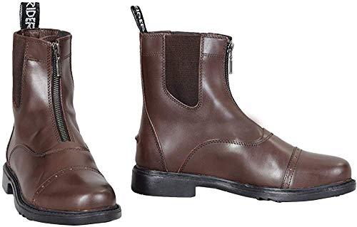TuffRider Damen Barock Front Zip Paddock Boots mit Metall-Reißverschluss, Damen, 3037, Mokka, 95