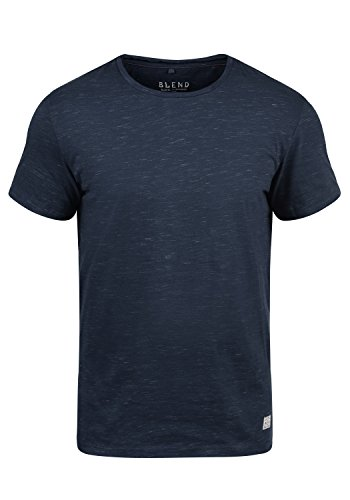 Blend Barnd Herren T-Shirt Kurzarm Shirt Mit Rundhalsausschnitt, Größe:M, Farbe:Navy (70230)