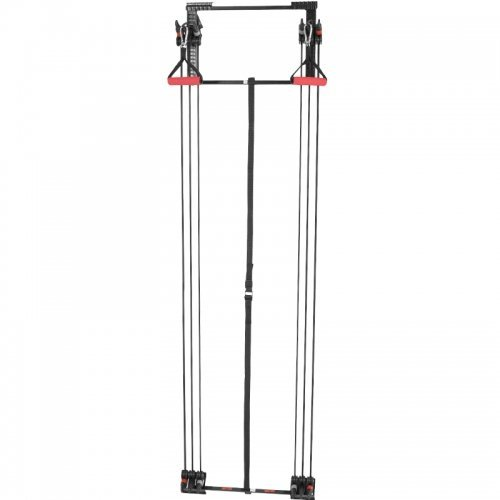 GORILLA SPORTS® Schlingentrainer-Set zur Türbefestigung – inkl. Handgriffe, Fußschlaufen, Trizeps-Stange und Bänder