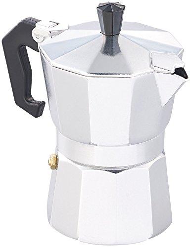 Cucina di Modena Espressokanne: Espresso-Kocher für 3 Tassen, für Gas, Elektro-Herd und Ceran-Feld (Kaffee-Kocher)