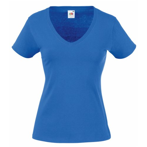 Fruit of the Loom Damen T-Shirt SS045M, Blau - Blau (Königsblau), Large