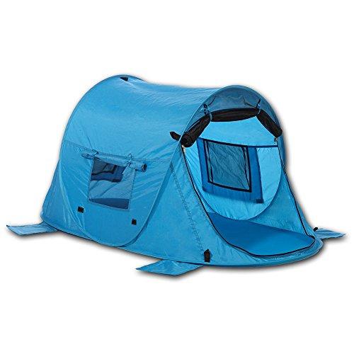 outdoorer Kinder-Strandmuschel & Reisebett Zack Premium Baby, UV 80, selbstaufbauend, 3 Fenster
