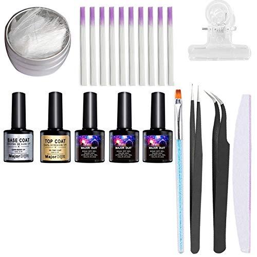 Nagelverlängerungsfaser Set Fiberglas Nägel Lichttherapie erweitert Kunststoff Nail Art Maniküre Werkzeug Nagel Set