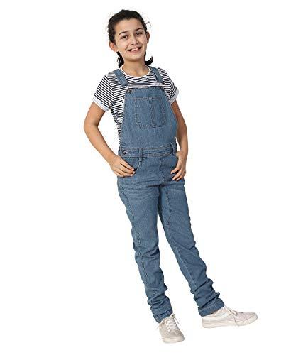 Wash Clothing Company Mädchen Jeanslatzhose Palewash - Alter 4-14 Slim Fit Kinder Latzhose LIBBYPALE-6 Years