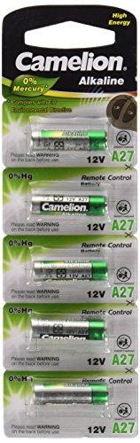 Camelion 11000527 Plus Alkaline Batterien LR27A/ 12 V/ 5er Pack