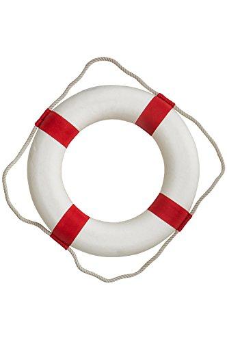 mare-me Rettungsring Deko rot weiß 50cm, kein Aufdruck