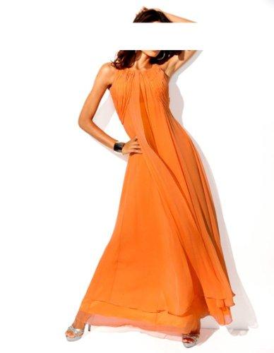 Carry Allen by Ella Singh Damen-Kleid Abendkleid Orange Größe 42