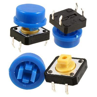 X-Dr 50 x blau taktiler Drucktaster Momententakt mit Kappen (22d1e04969a70e0da1a147a9d88fc43c)