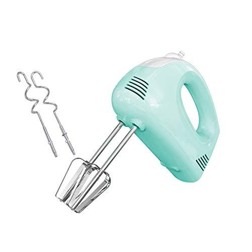 WMC 5 Geschwindigkeiten Mini Electric Handheld Schneebesen Griff Milchcreme Butter Schneebesen Teig Mixer Rotary mit Edelstahl für den Haushalt,Green