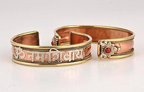 Schöne Kupfer Shiva armband/Armreif/Aum Om Buddhistische/Hindu