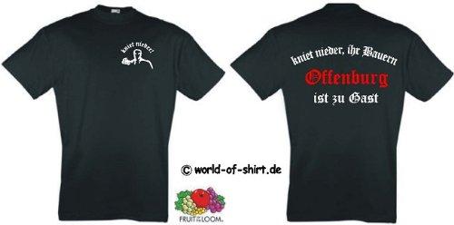 world-of-shirt Herren T-Shirt Offenbach Ultras kniet nieder