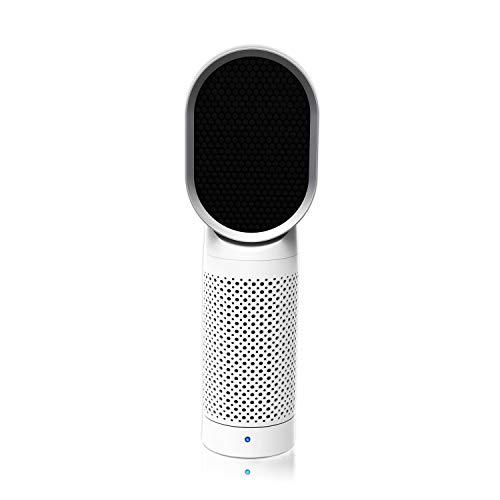 QUEENTY Luftreiniger Air Purifier mit HEPA-Kombifilter & Aktivkohlefilter, Desktop Luftreiniger Ionisator, Perfekt für Staub und Haustier Allergiker, Raucher, Asthma, Raucherzimmer, Wohnung (Weiß)
