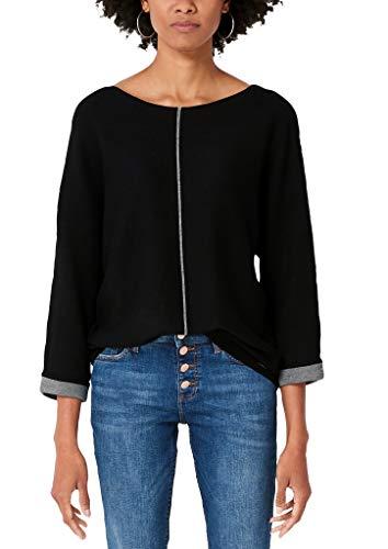 s.Oliver RED Label Damen Pullover mit Kontrast-Details Black 44