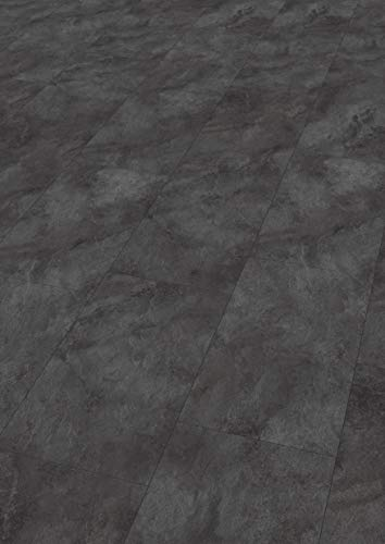 EGGER Home Laminat dunkel grau / anthrazit Steinoptik - Schiefer León  EHL005 (8mm, 2,533 m²) Klick Laminatboden   Bodenbelag Schiefer im Fliesenformat