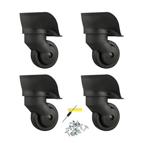 Casters 4X-Gepäckrollen, hochwertiges Kunststoffmaterial, stabil und flexibel, mit Befestigungsschrauben, Rollen für Rollen und andere Rollen