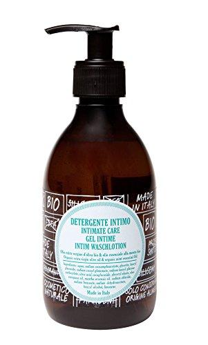 ricaricando, BIO Intim Waschlotion mit Bio Olivenöl und ätherischem Minzöl, zertifizierte Naturkosmetik, ohne Silikone, ohne Parabene, ohne EDTA, vegan, 300 ml