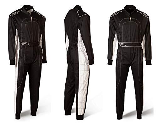 Speed Kartoverall Schwarz/weiß - Denver HS-2 Modell 2018 Racewear (L)