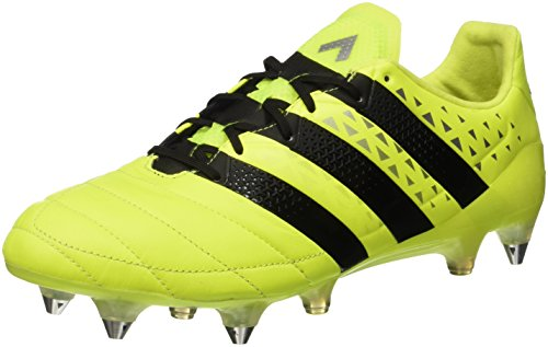 adidas Herren Ace 16.1 Sg Leather Fußballschuhe, Gelb (Solar Yellow/Core Black/Silver Met,), 42 EU