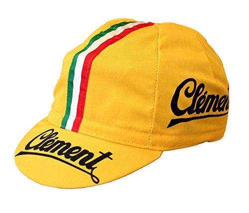 Clement Radmütze Cap Rennmütze Retro Mütze … (gelb)