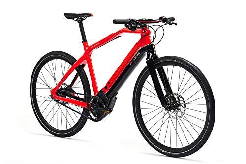 Pininfarina Erwachsene Evoluzione Sportiva Carbon NuVinci Riemenantrieb Elektrofahrrad, Rot, M