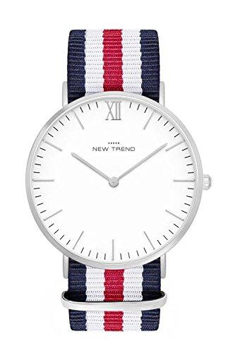 New Trend - Love for Accessories Damen Uhr analog Quarzwerk mit Textil-Armband F3-97RK-2RMT