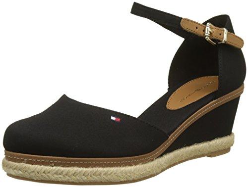 Tommy Hilfiger Damen Iconic ELBA Basic Closed Toe Geschlossene Sandalen, Schwarz (Black 990), 40 EU
