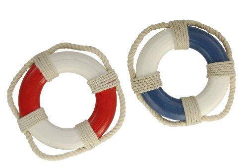 mare-me Mini-Rettungsringe, blau oder rot, rot/weiß