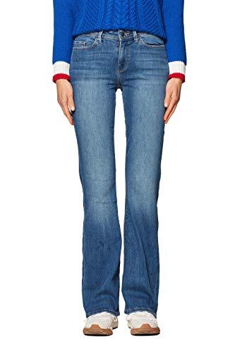 edc by ESPRIT Damen 998CC1B825 Bootcut Jeans, Blau (Blue Medium Wash 902), W28/L32 (Herstellergröße: 28/32)