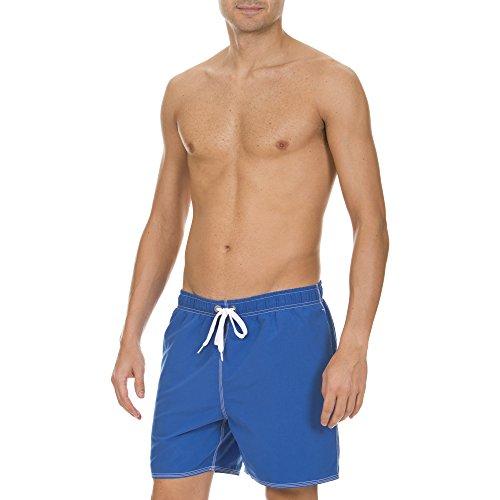 arena Herren Badeshort Fundamentals Solid Boxer, Royal/White, L