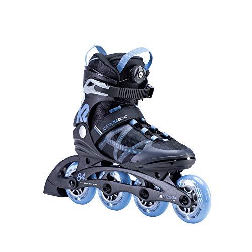K2 Skates Damen ALEXIS 84 BOA Inline Skates, black-blue, 38 EU (5 UK)