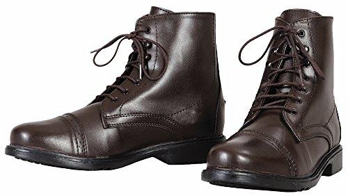 TuffRider Damen Starter Paddock Boots, Schnürschuh 4 Mokka